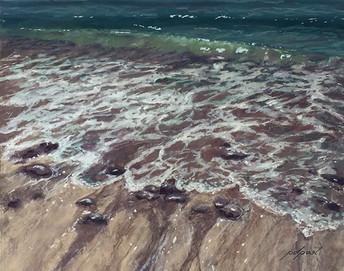 "Retreating Tide  16x20"""
