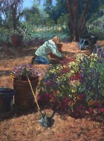 "Berkeley Gardener   24x18"""