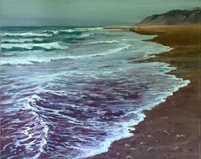 "Late Beach Walk   18x24"""
