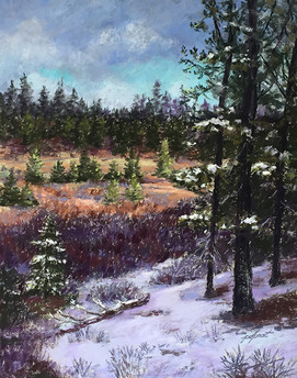 Truckee Morning Walk   20x16""