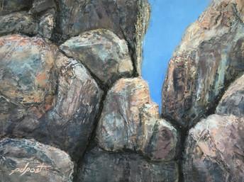 "Round Rocks   9x12"""