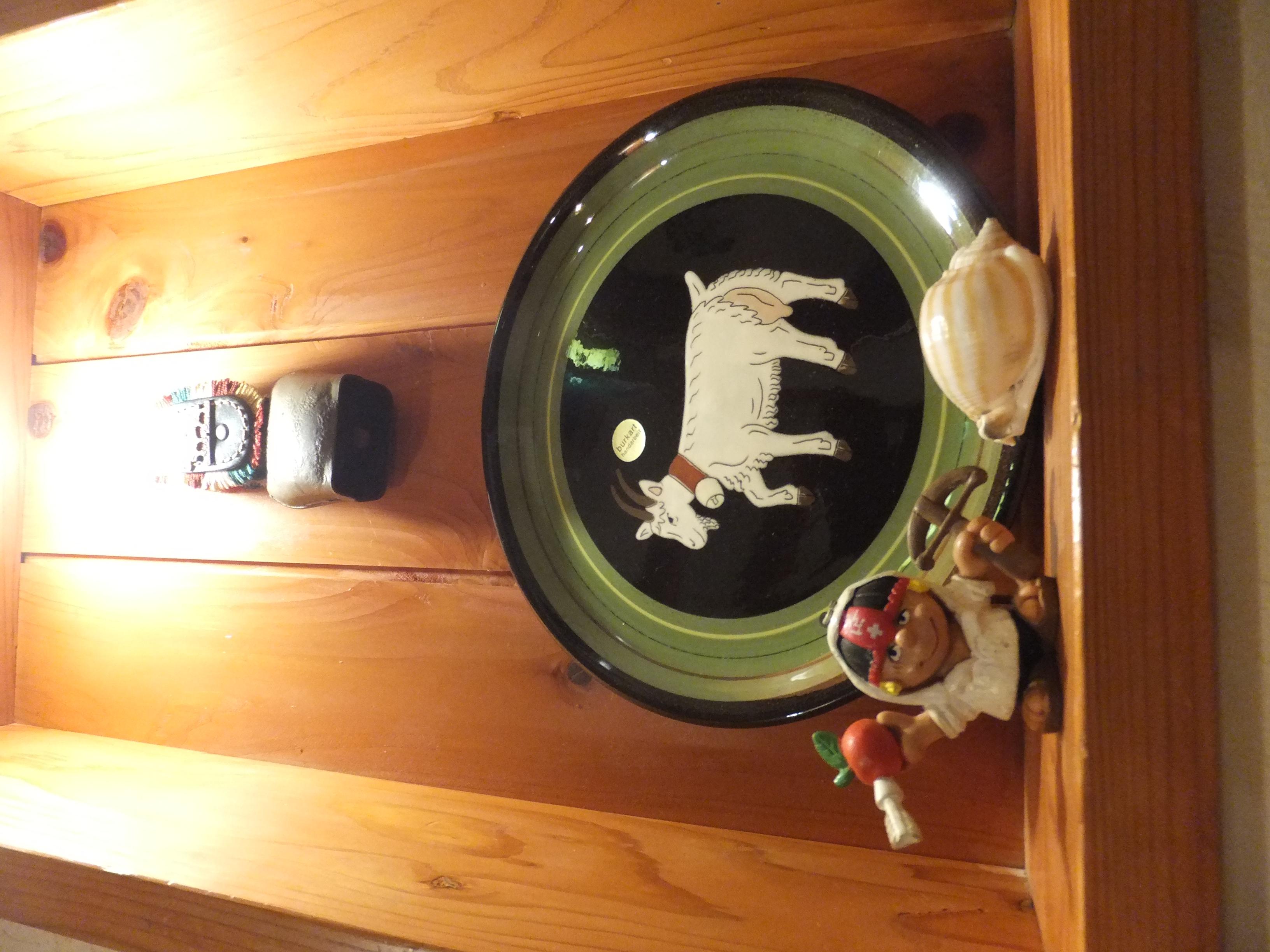スイスの絵皿とウイリアムテル