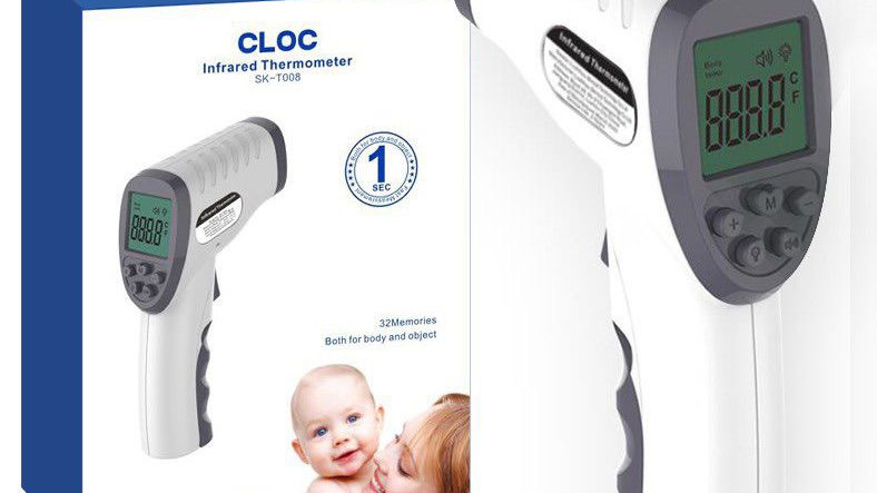 CLOC SK-T008 Infrared No-Touch Forehead Thermometer