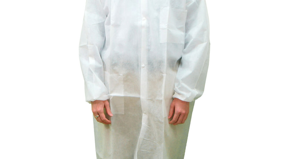 Disposable Lab Coat, White