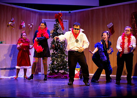 Official Theatre for All company performs A Winter Story.Chris plays Elvis.