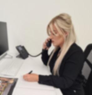 Farrah Answering Phone Cropped - Copy2.j