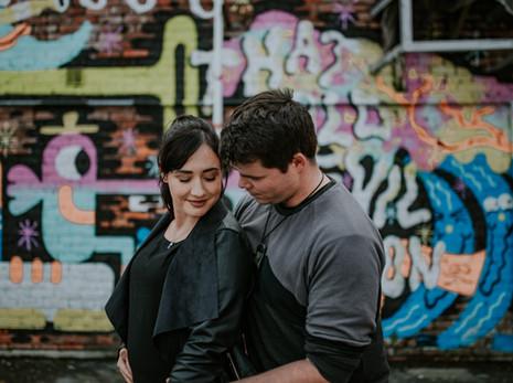 Zac + Kathryn   Wellington CBD   Engagement Session