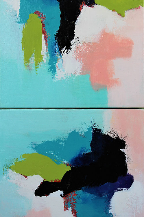 """Sea Breeze I & II""- 10""x10"""