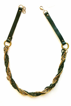 Leather Twisted Necklace