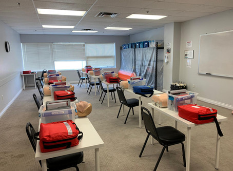 This is what first aid training should look like while maintaining physical distance! REOPEN JUNE 1