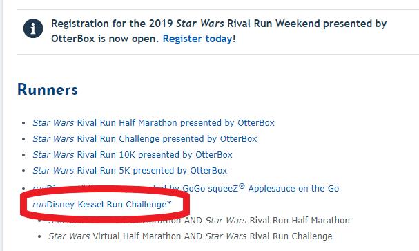 Star Wars runDisney Kessel Run