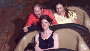 "There's a great story behind the ""Angry Splash Mountain Lady."" Follow the link to read."