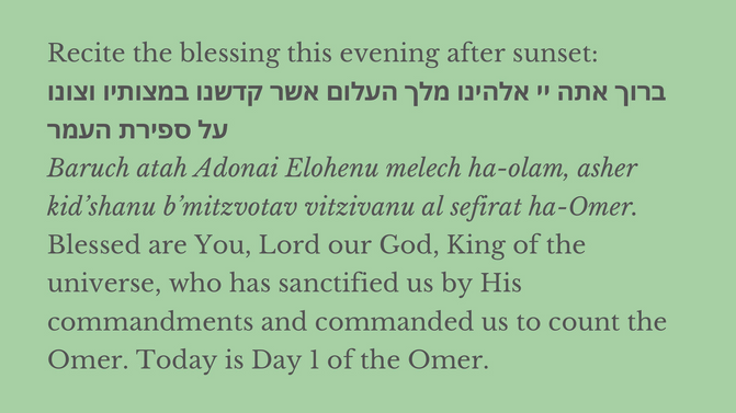 S'firat HaOmer  -  Counting of the Omer