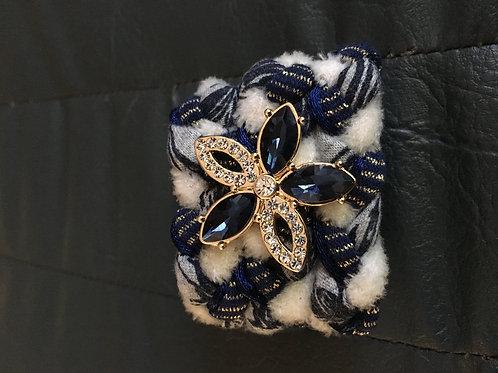 bijoux foulard marine et b