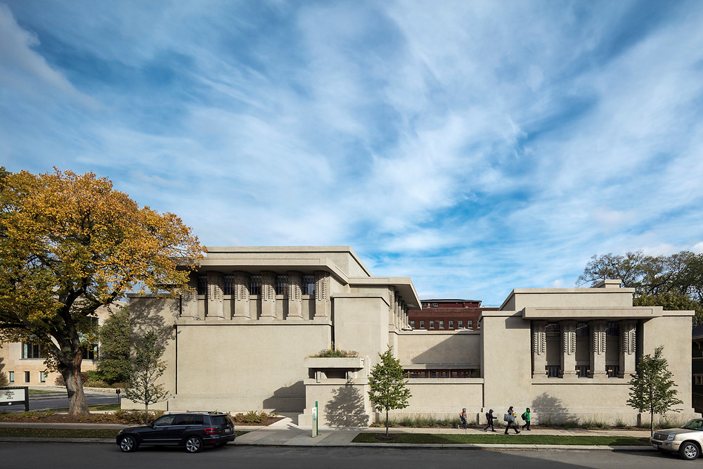 Unity Temple by Frank Lloyd Wright. Credit Tom Rossiter