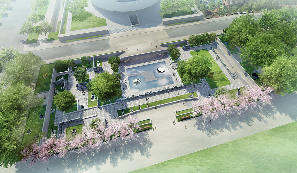 Preliminary concept design for the Hirshhorn Museum's Sculpture Garden renovation, designed by Hiroshi Sugimoto