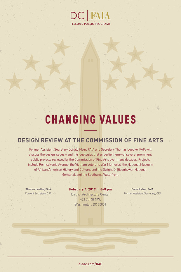 "AIA|DC to Host Commission of Fine Arts ""Changing Values"" Panel, Feb. 4"