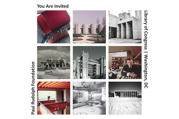 Paul Rudolph Foundation to host Library of Congress Symposium, Oct. 26