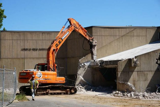 Marcel Breuer's American Press Institute was demolished in 2016.