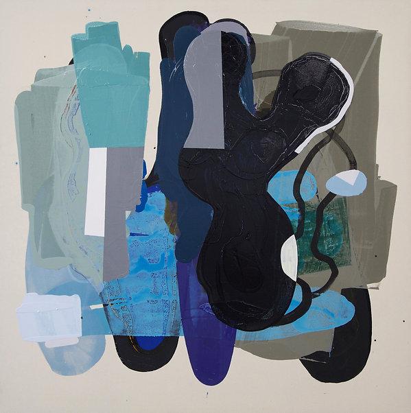 Dave Malone, Mine, 72 x 72, Enamel on unprimed canvas