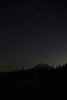 Midnight Mountain Sky
