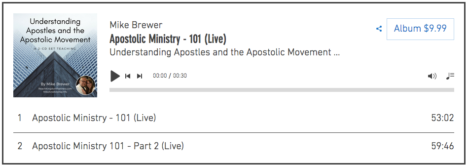 This teaching on Apostolic Ministry will lay a beginning foundation for you in understanding the five-fold ministry in the modern church.