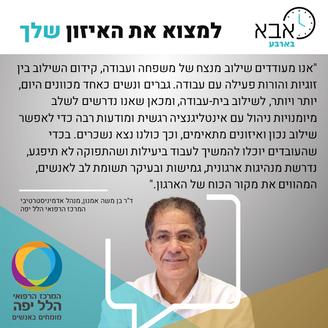 דר בן משה אמנון, מנהל אדמיניסטרטיבי-המרכ