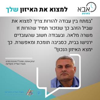 יצחק אוחנה, סמנכל חטיבת הפרט-משרד העלייה