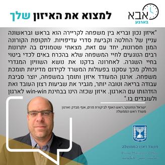 ישראל ונחוצקר, ראש האגף לביקורת פנים, אג