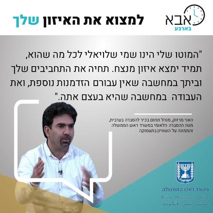 האני מרזוק, מנהל תחום בכיר להסברה בערבית