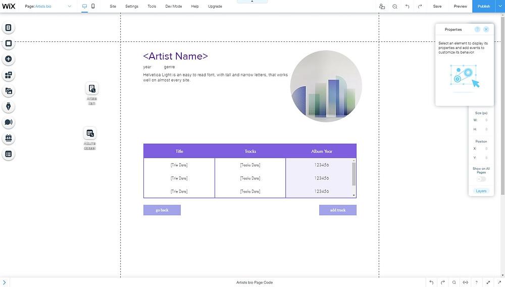 Dynamic Page wix corvid /תמי קטש דף דינאמי
