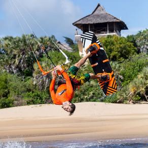 Kite surfing in Kenya