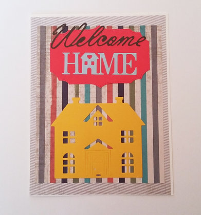 Welcome home card.