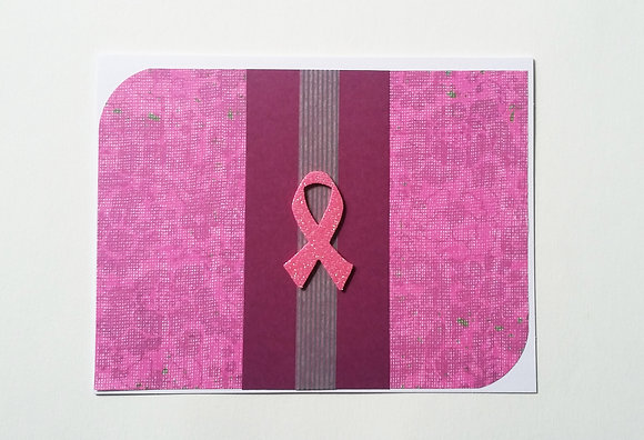 Pink ribbon card.