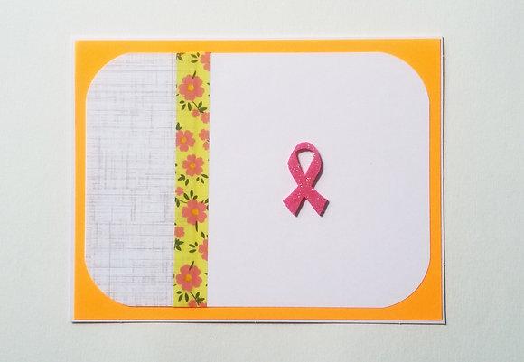 Pink ribbon card.