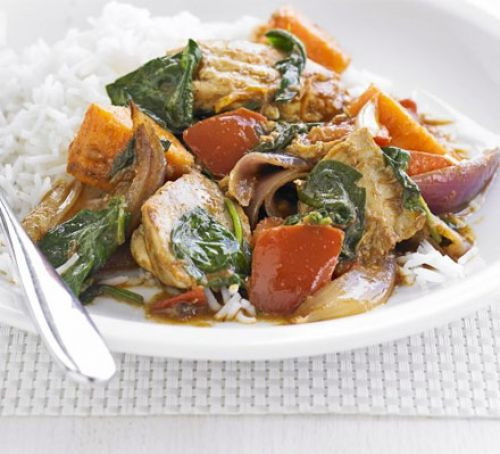 Super Simple Chicken and Sweet Potato Curry