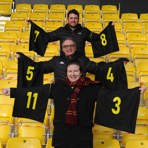 Harrogate Scrubbers complete sewing project for Harrogate Town AFC