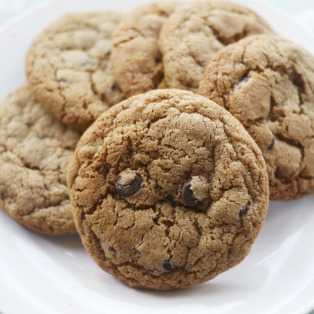 Gluten-free buckwheat, ginger and chocolate chip cookies
