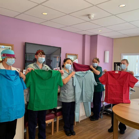 Harrogate Scrubbers deliver 2037 scrubs in just six weeks.