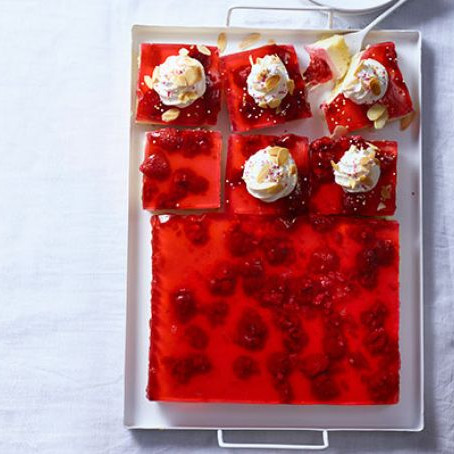 Jelly and Custard Trifle Squares