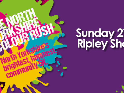 Colour Rush 2019 in aid of Saint Michael's Hospice.