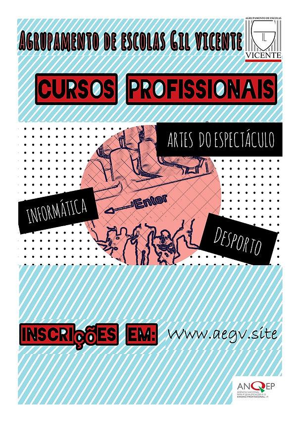 Cartaz Cursos Profissionais Gil Vicente.