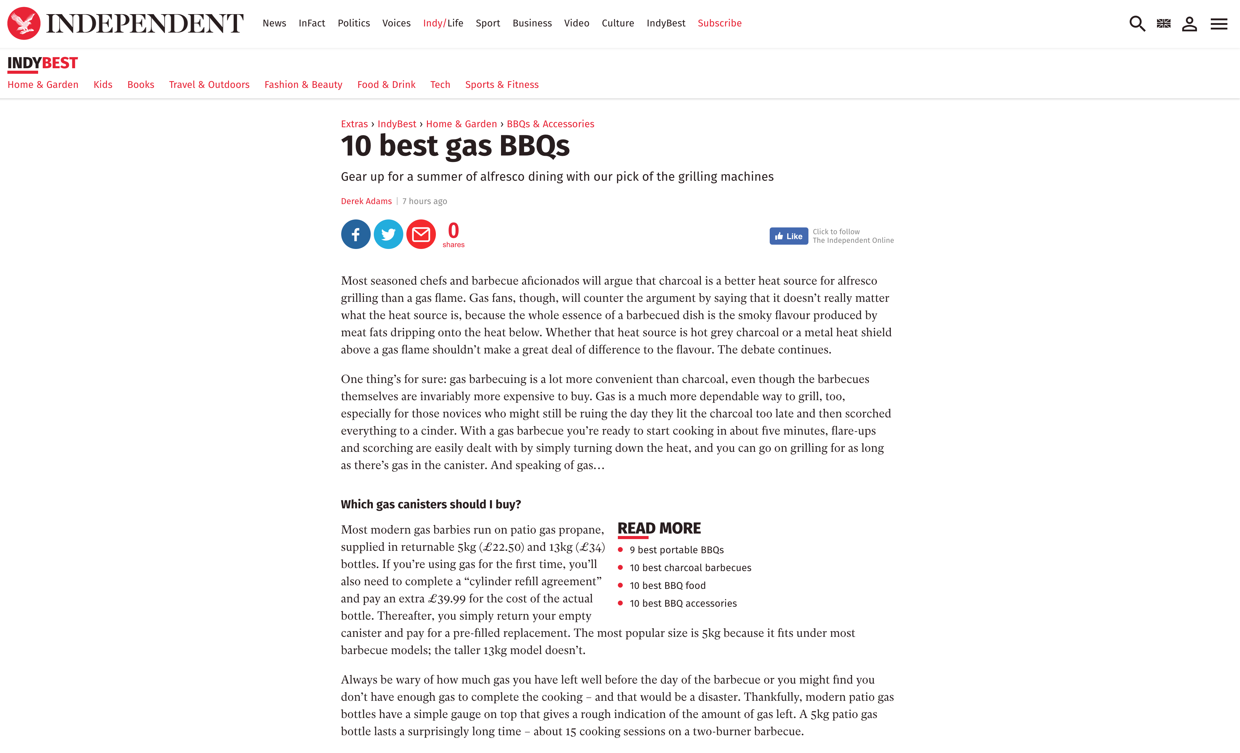 LARGE GAS BARBECUES