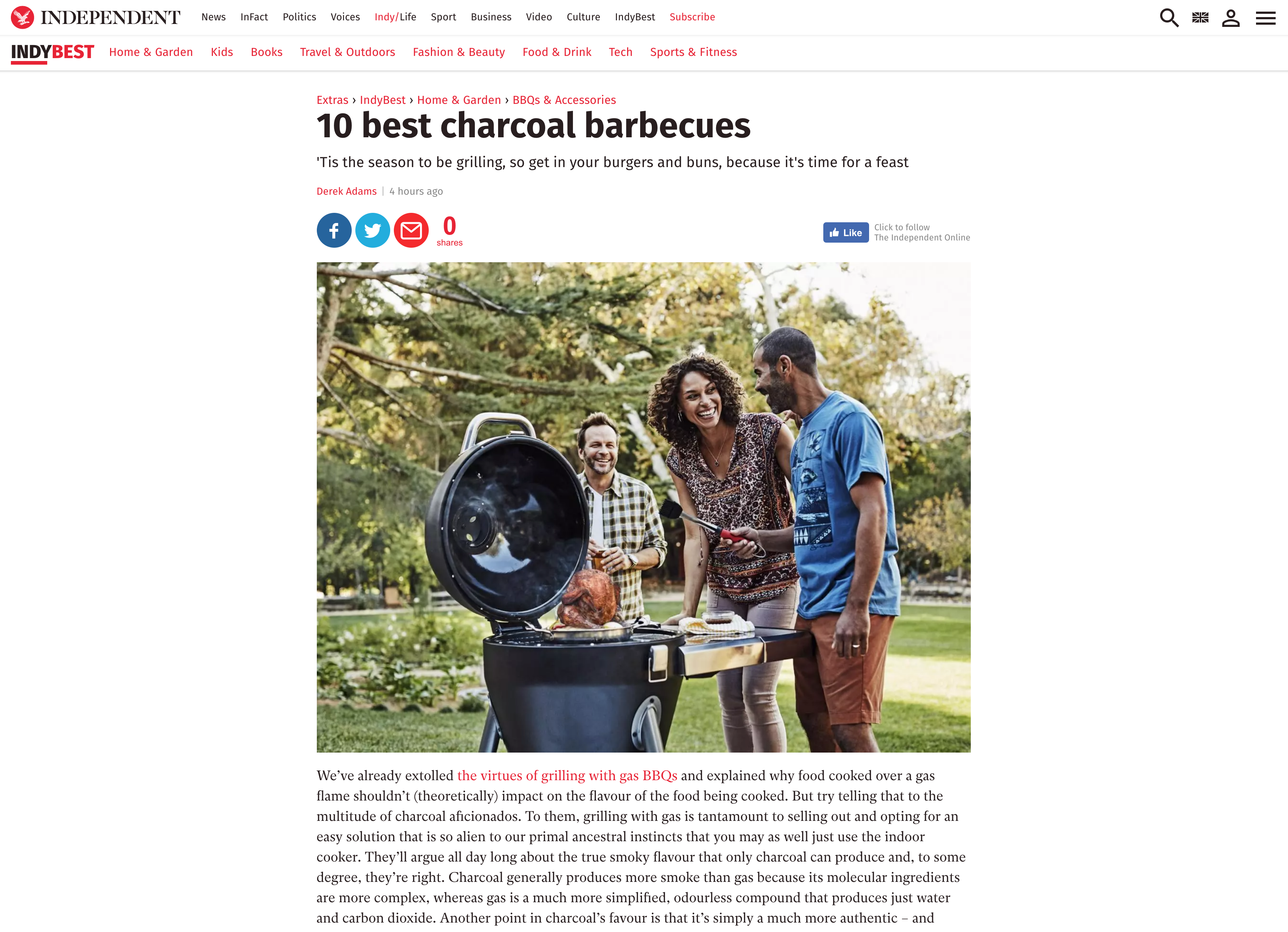 LARGE CHARCOAL BARBECUES