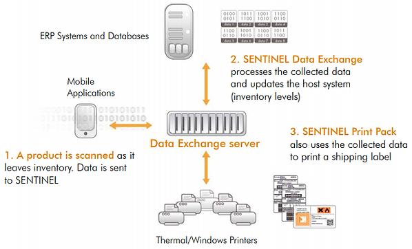 Sentinel data exchange