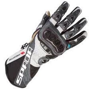 Spada Predator2 Leather Gloves Black/White/Anthracite