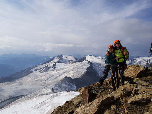 Just off summit, Dolomites
