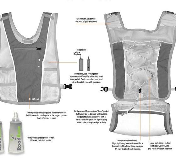 NEW Roadnoise Running/Walking/Biking Vest