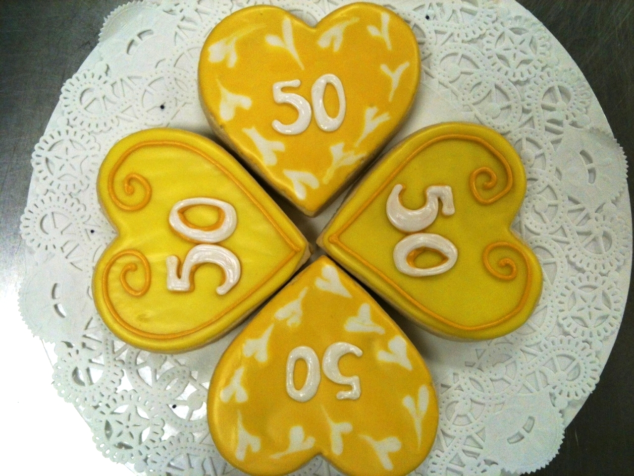 Anniversary 50th Hearts