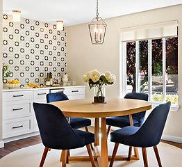 Modern dining room and custom bar